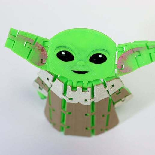 BabyYodaPost_1.jpg Download free STL file Flexi Articulated Baby Yoda (The Child) from The Mandalorian • 3D printing model, fixumdude