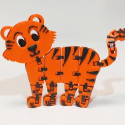 Télécharger fichier STL gratuit Tigre articulé flexible • Design imprimable en 3D, fixumdude