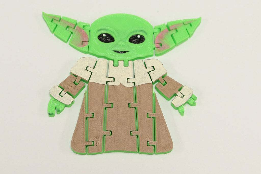 BabyYodaPost_2C.jpg Download free STL file Flexi Articulated Baby Yoda (The Child) from The Mandalorian • 3D printing model, fixumdude