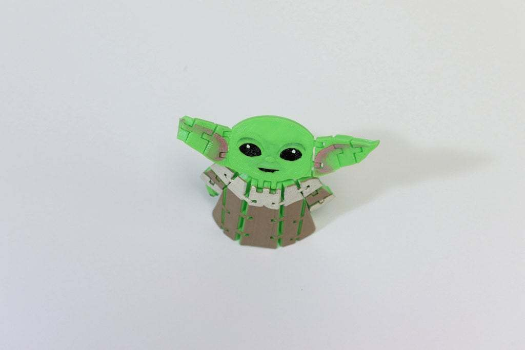 BabyYodaPost_6C.jpg Download free STL file Flexi Articulated Baby Yoda (The Child) from The Mandalorian • 3D printing model, fixumdude