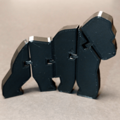 Download free 3D printing files Flexi Articulated Gorilla, fixumdude