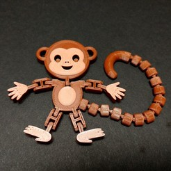 Download free STL file Flexi Articulated Monkey • 3D printable template, fixumdude