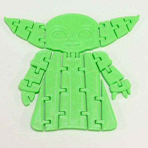 BabyYodaPost_5C.jpg Download free STL file Flexi Articulated Baby Yoda (The Child) from The Mandalorian • 3D printing model, fixumdude