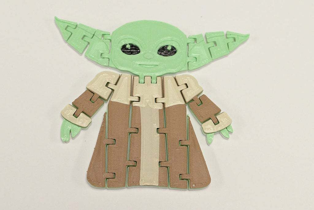BabyYodaPost_3C.jpg Download free STL file Flexi Articulated Baby Yoda (The Child) from The Mandalorian • 3D printing model, fixumdude