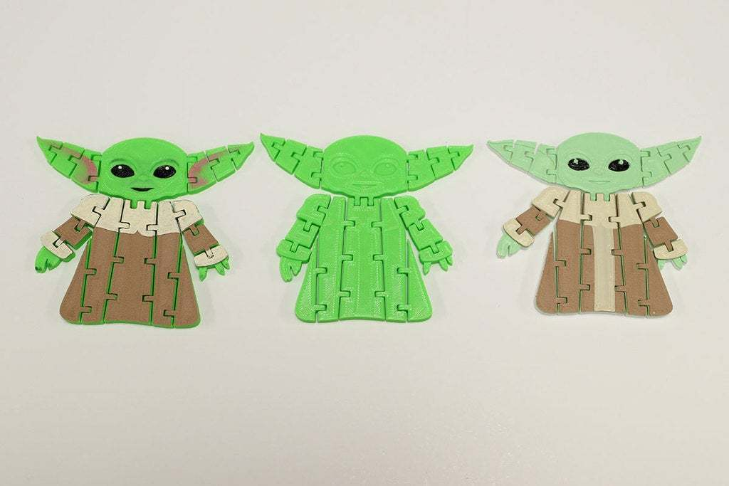 BabyYodaPost_4C.jpg Download free STL file Flexi Articulated Baby Yoda (The Child) from The Mandalorian • 3D printing model, fixumdude
