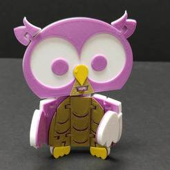 FlexiOwl_1.jpg Download free STL file Flexi Articulated Owl • 3D printing template, fixumdude