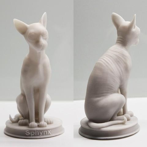 Download 3D printer templates Sphynx Cat 3D Priting STL, STEVEN-ART