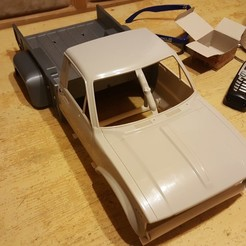 Download 3D printing templates Mojave Hilux rear Body Trailfinder 2 TF2 RC4WD Scaler Crawler, Dr_Knut