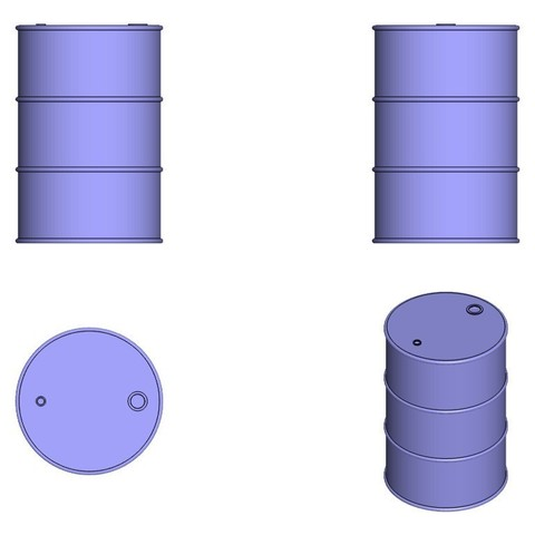 Impresiones 3D Tambor de aceite 1/10 Herramientas de escala RC Crawler Scaler Trucks Trailer, Dr_Knut