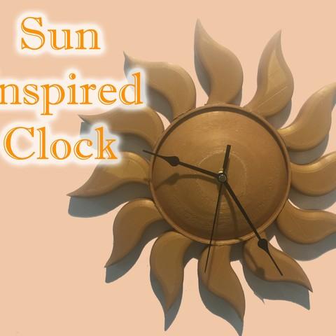 Download free 3D printer model Sun Inspired Clock, Caseyf99