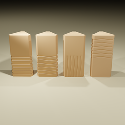2.png Download STL file Stones of the fifth element • 3D printable template, leonespi