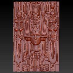 Imprimir en 3D gratis HR Giger 2, aguilarcustoms