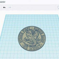 CobraKai Coaster.jpg Download OBJ file CobraKai Coaster • 3D printing object, manostkd