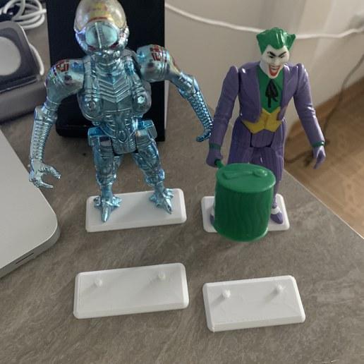 Download 3D printer designs Kenner Superpowers action figure stands, manostkd