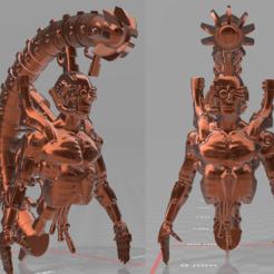 god2.PNG Télécharger fichier STL gratuit cyberdieu pour les zombies de l'espace (fichier supporté inclus) • Objet imprimable en 3D, pen2