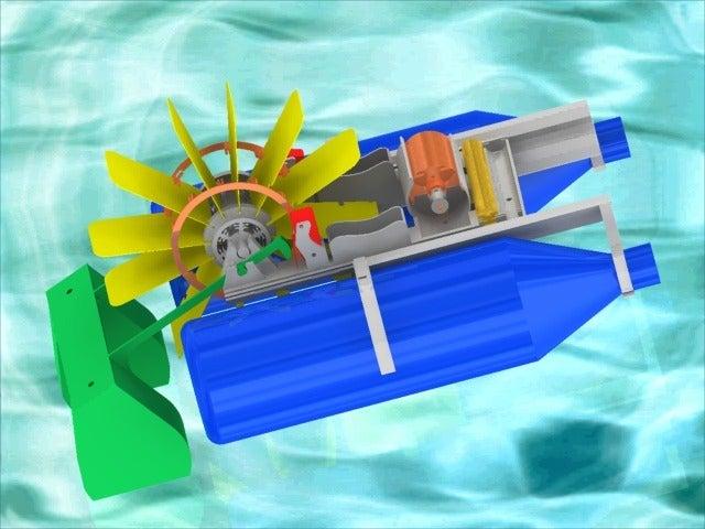 BoatImage5_display_large.jpg Télécharger fichier STL gratuit Bateau à pagaies • Objet à imprimer en 3D, Pwentey