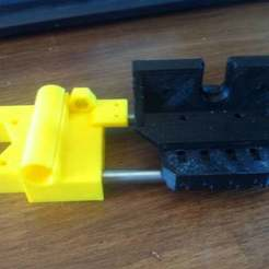 Download free STL Prusa i3 greg's adapter for Single plate X-carriage, Pwentey