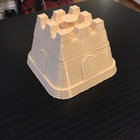 Download free 3D printing templates Simple Sand Castle, Pwentey