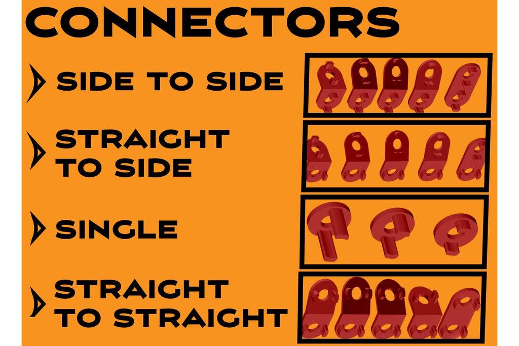 Connectors-01_display_large.jpg Télécharger fichier STL gratuit MEGA Expansion 200+ Pièces • Plan à imprimer en 3D, Pwentey