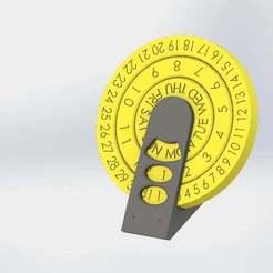 Descargar modelo 3D gratis Calendario Perpetuo de Escritorio, Pwentey