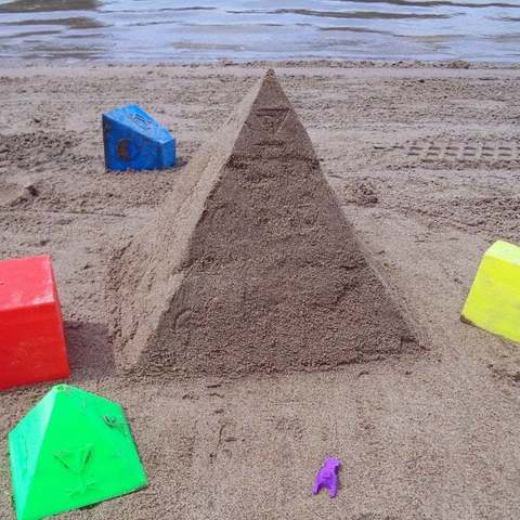 Download free 3D print files Pyramid Sandcastle, Pwentey
