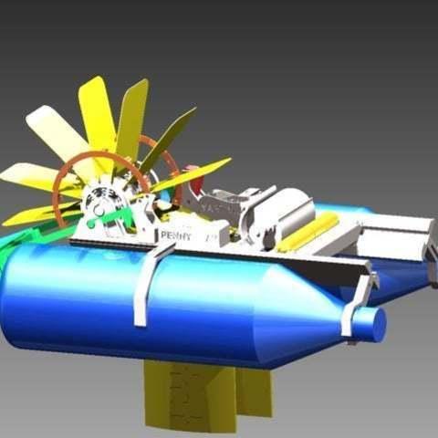BoatImage1_display_large.jpg Télécharger fichier STL gratuit Bateau à pagaies • Objet à imprimer en 3D, Pwentey
