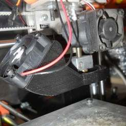 Free 3D model Part Cooler for Aluminum X carriage, Pwentey