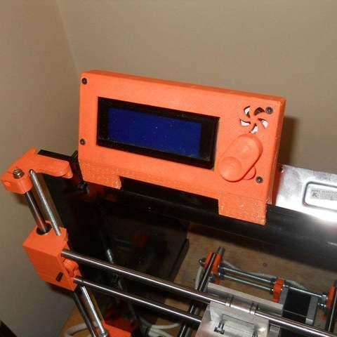 Download free STL file Prusa i3 Smart LCD Frame mount, Pwentey
