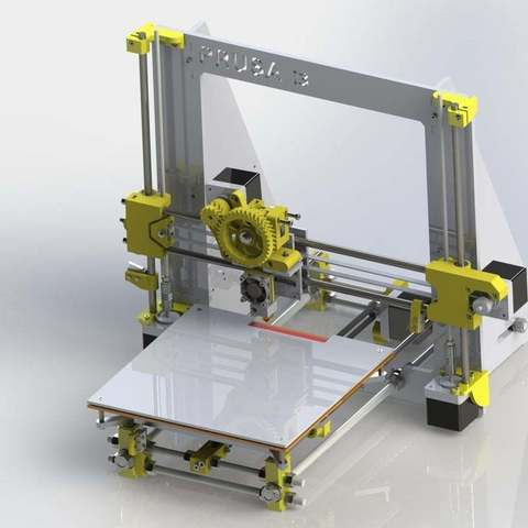 Imprimir en 3D gratis Prusa i3 2014, Pwentey