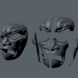 Download 3D printer designs Immortal Warrior Mask, polygonface