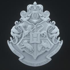 Download 3D print files Hogwarts Crest, polygonface