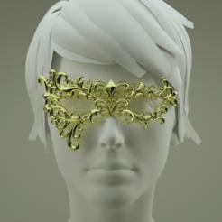 Télécharger objet 3D Masque de carnaval, polygonface