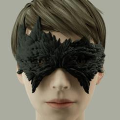 Télécharger modèle 3D Masque de carnaval - Corbeau, polygonface