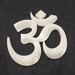 Download free STL file AUM ॐ  • Model to 3D print, polygonface