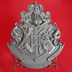 20200309_144613rekt.png Download STL file Hogwarts Crest • 3D printing template, polygonface