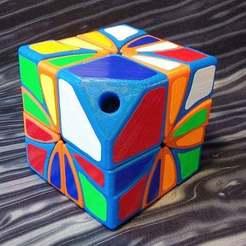 Imprimir en 3D gratis Dino asimétrico 2x2 Cubo de Rubik, Lurgmog