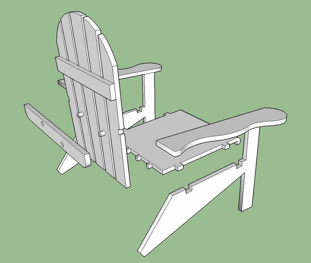 Chair_snip_1_display_large.jpg Download free STL file Adirondack Chair • 3D printing design, Lurgmog