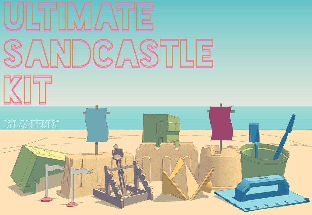 Ultimate_Sandcastle_Kit_display_large.jpg Download free STL file Ultimate Sandcastle Kit • 3D printable model, Lurgmog