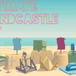 Ultimate_Sandcastle_Kit_display_large.jpg Download free STL file Ultimate Sandcastle Kit • 3D printable model, Lurgmog
