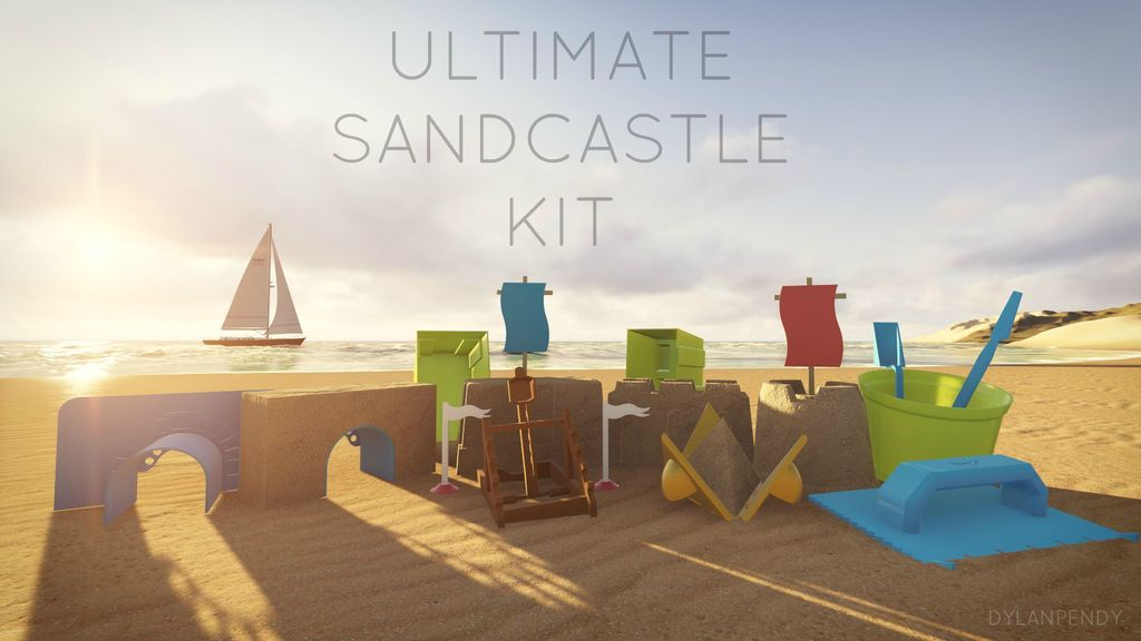 ULTIMATE_SANDCASTLE_KIT_RENDER_display_large.jpg Download free STL file Ultimate Sandcastle Kit • 3D printable model, Lurgmog