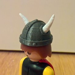 Free STL files Playmobil Viking Head, Lurgmog
