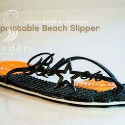 photo_display_large.jpg Download free STL file Beach Slipper • Template to 3D print, Lurgmog