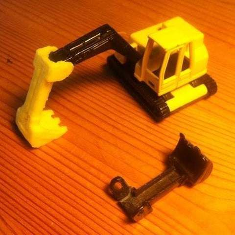 Download free 3D printing files Replacement Shovel for Digger (siku 0801), Lurgmog