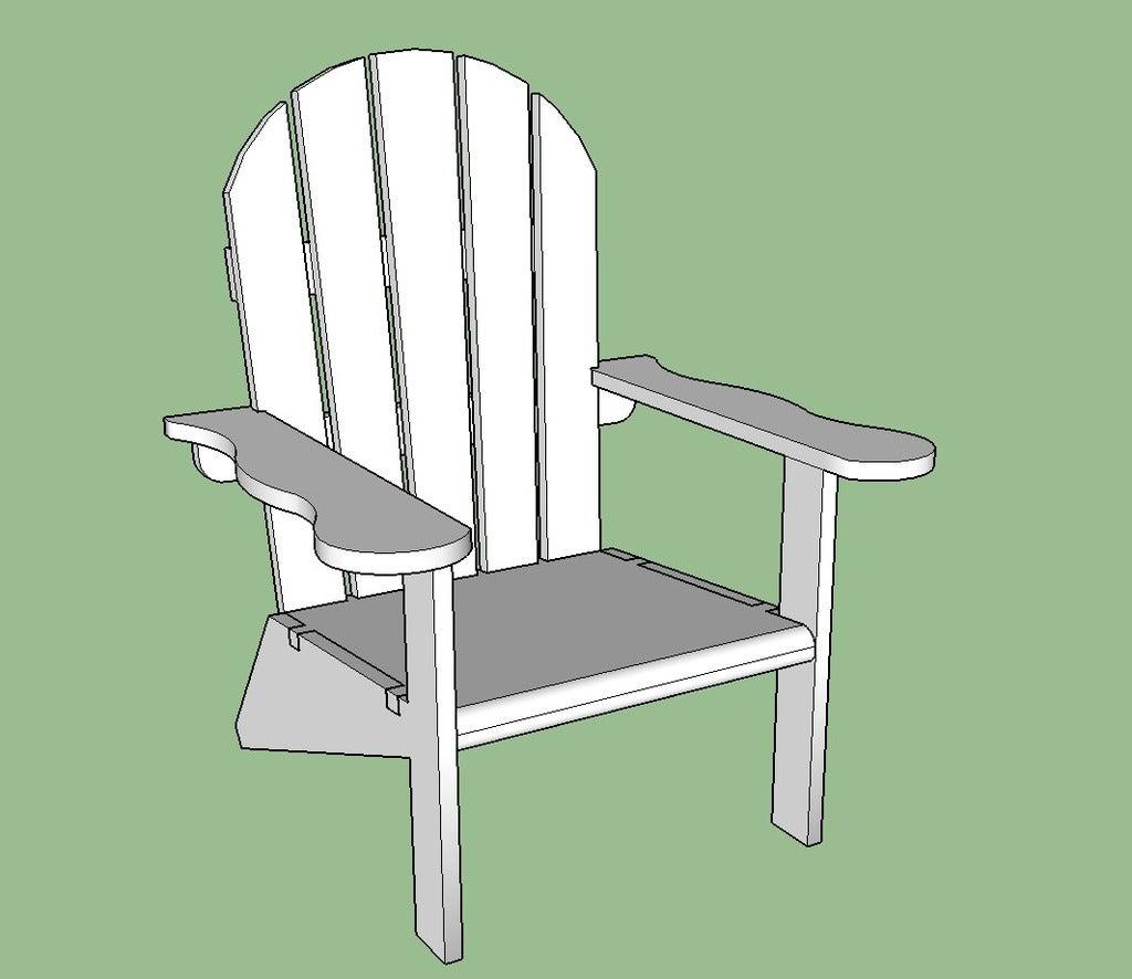 Chair_snip_3_display_large.jpg Download free STL file Adirondack Chair • 3D printing design, Lurgmog
