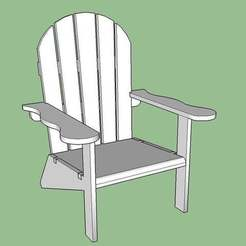 Chair_snip_3_display_large.jpg Download free STL file Adirondack Chair • 3D printing design, Lurgmog