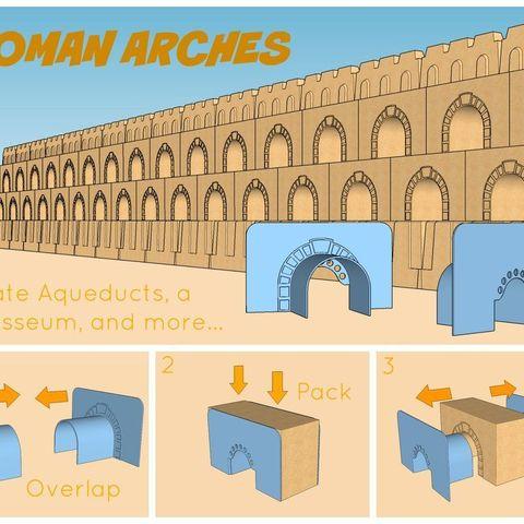 Roman_Arches_display_large.jpg Download free STL file Ultimate Sandcastle Kit • 3D printable model, Lurgmog