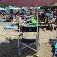 Download free STL Beach umbrella and chair lazy coupler, Lurgmog