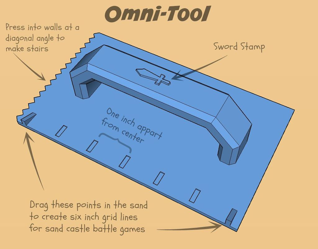 Omni_tool_display_large.jpg Download free STL file Ultimate Sandcastle Kit • 3D printable model, Lurgmog