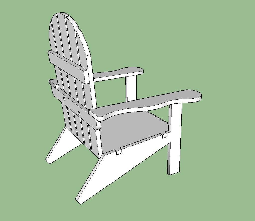 Chair_Snip_2_display_large.jpg Download free STL file Adirondack Chair • 3D printing design, Lurgmog