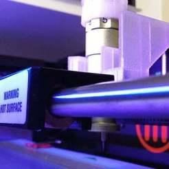 110_2704_display_large.JPG Download free STL file Replicator 2 CNC Vinyl Cutter • 3D printer object, Lurgmog
